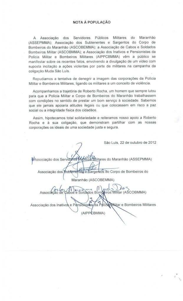 Militares emitem notas sobre suposta formação de milícia