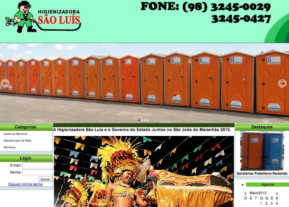 Site da Higienizadora São Luís deixa claro qual a especialidade da empresa
