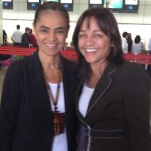 Marina Silva e Eliziane em Brasília