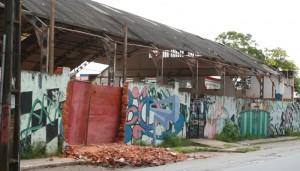 Imagem mostra ginásio demolido no governo Jackson