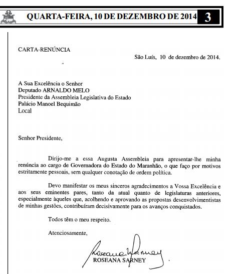 Documento foi publicado na edição de hoje do Diário Oficial da Assembleia