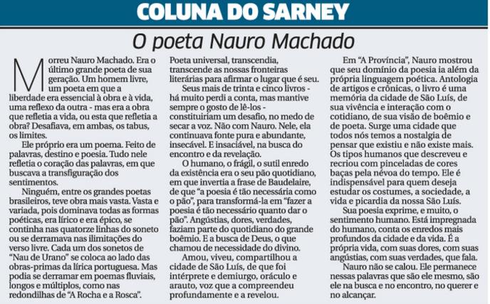 Sarney Nauro Machado