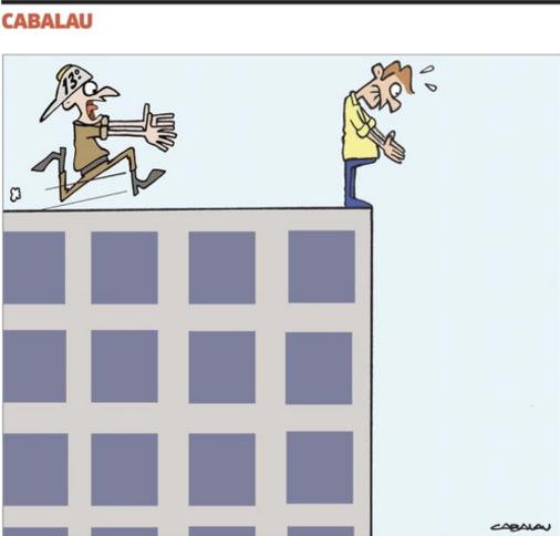 Charge de Clóvis Cabalau, diretor de redação de O Estado do Maranhão, publicada na edição de hoje