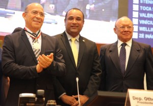 Eliseu Padilha, Roberto Costa e João Alberto na Assembleia Legislativa / Foto: Biné Morais