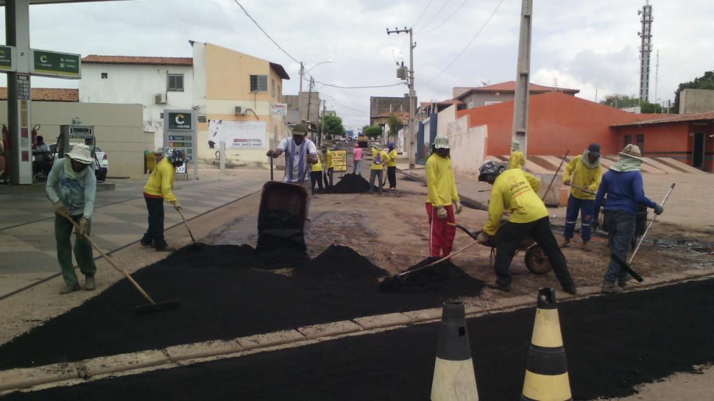 Melhoramento da Rua Nova aconteceu no sábado
