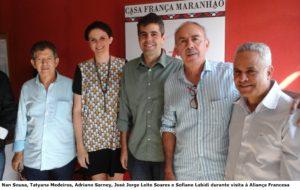 Adriano sarney visita Aliança Francesa 001