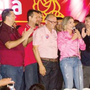 Rosangela Curado recebe o apoio de Dino em Imperatriz