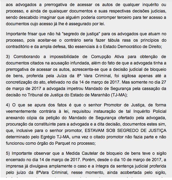 Captura de Tela 2017 06 26 a%CC%80s 09.52.50 e1498481706294 - OAB sai em defesa da advogada de Roseana Sarney - minuto barra