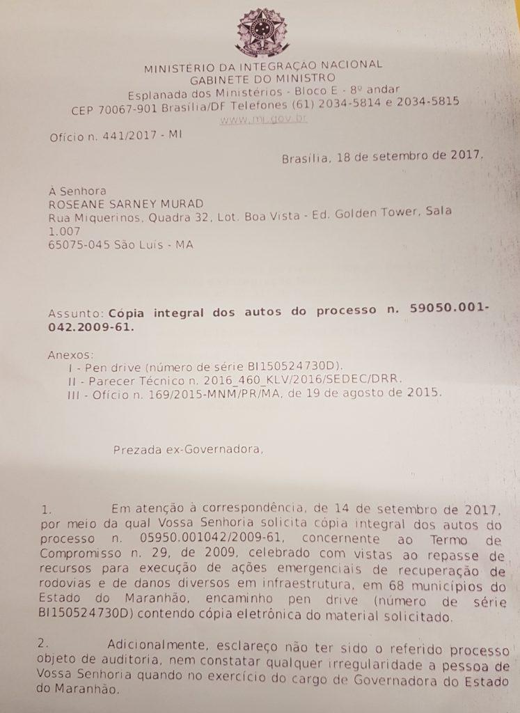 20170919 180336 747x1024 - Roseana não cometeu irregularidades com verbas para enchentes, afirma ministro - minuto barra