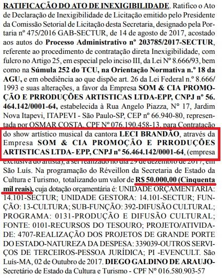 leci brandao - Cachê camarada!! Flávio Dino paga 50 mil reais para cantora filiada ao PCdoB - minuto barra