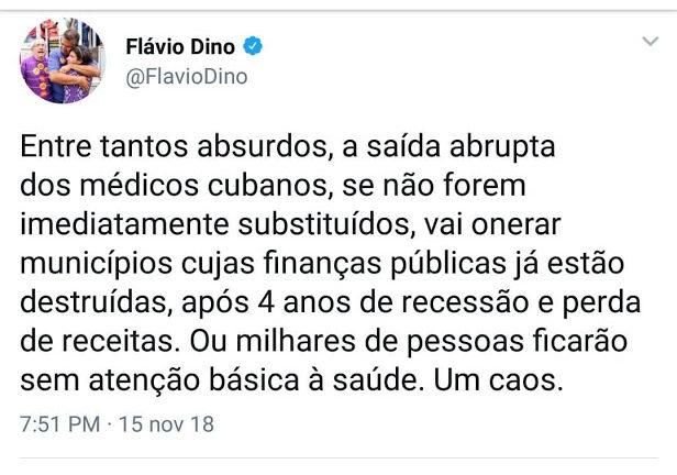 """dino 2 e1542371696881 - Flávio Dino critica o fim do """"Mais Médicos"""" mas não paga os médicos do Maranhão - minuto barra"""