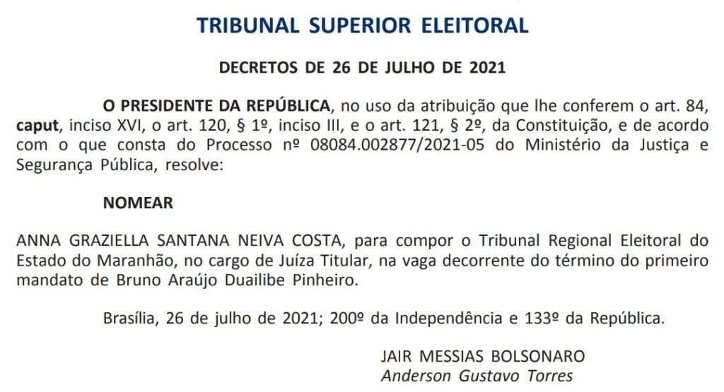 anna 1024x555 - Bolsonaro nomeia advogada de Roseana Sarney para o cargo de juíza titular do TRE/MA